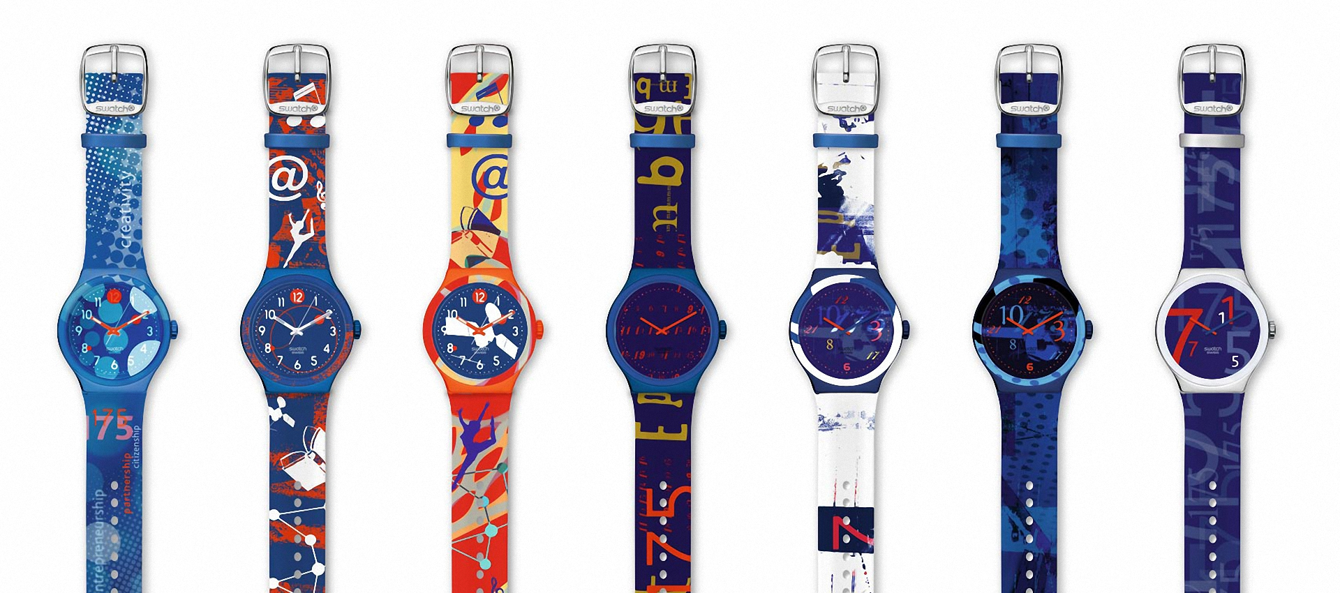 "Swatch design for ""175 Years Bertelsmann - A Future Story"""